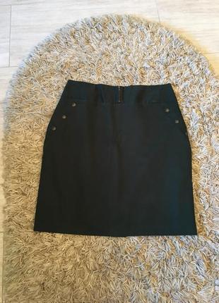 Только до 20.12! темно - зелёная изумрудная бутылочная узкая юбка (бесплатная доставка)2