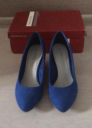 Только до 20.12! синие туфли на танкетке (бесплатная доставка)