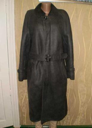 Дубленка пальто натуральная вся эксклюзив!! 48-50