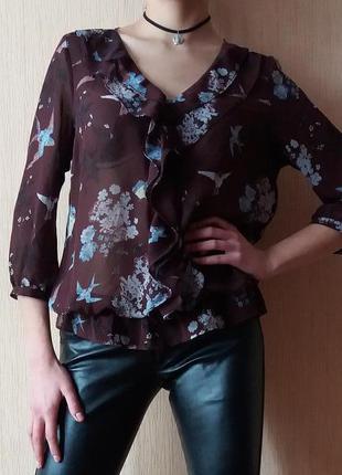 Секси блузка с оригинальным принтом от next