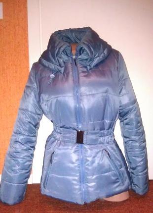 Теплая куртка с воротником под горло nm newmark fashion collection