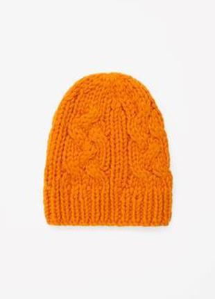 Скидки!!! теплая шерстяная шапка cos one size
