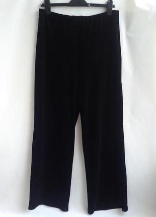 Бархатные повседневные штаны на резинке