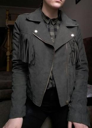 Крутая куртка-косуха с утеплением