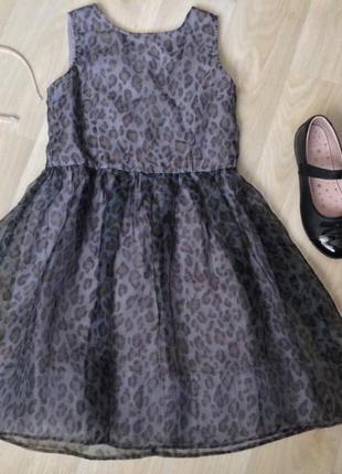Нарядное платье с леопардовым принтом