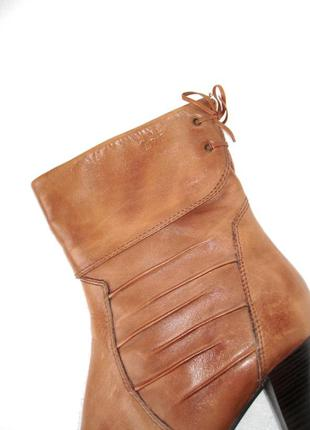 Кожаные ботинки, ботильоны, полусапожки caprice, размер 6