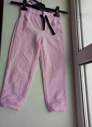 Теплые спортивные штаны на девочку 3-4 лет, 98-104 см, lupilu, германия