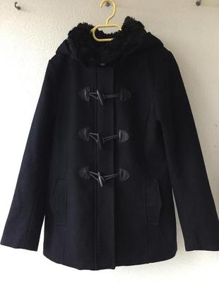 Актуальное шерстяное пальто с капюшоном в стиле zara парка на весну