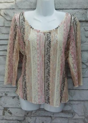 Распродажа!!! красивая, кружевная блуза сеточка per una