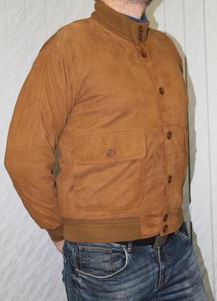 Мужская куртка натуральный замш collezione (vera pelle) оригинал