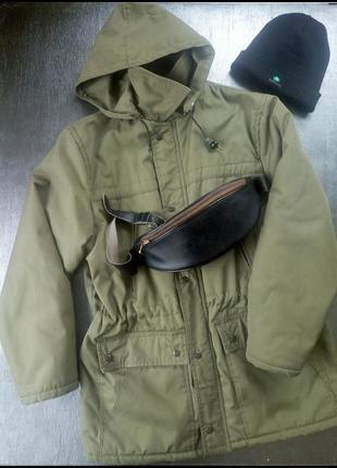Парка куртка хаки унисекс made in korea  размер m/l