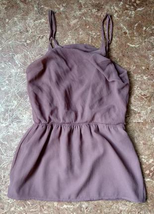 Платье легенькое лилового цвета