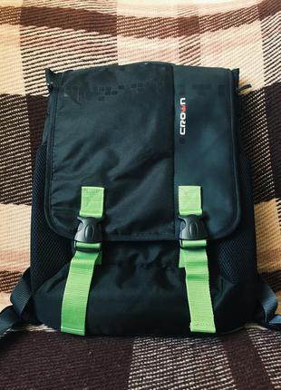 """Рюкзак для ноутбука crown harmony 15.6"""" black/green"""