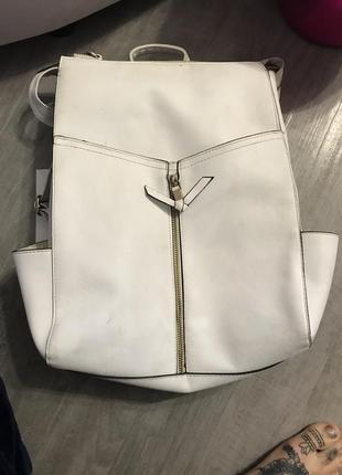 Крутой белый рюкзак!