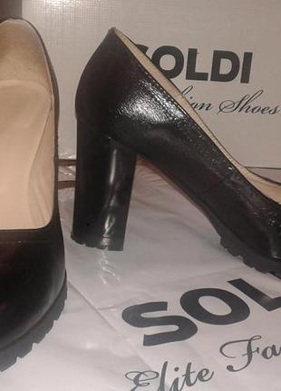 Туфли из натуральной кожи soldi