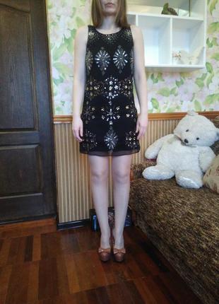 Короткое черное платье influence, xs/s