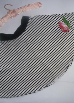 Стильная юбка-солнце в полоску