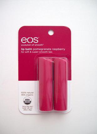 Eos бальзам стик для губ бальзамы lip balm гранат и малина1