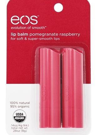 Eos бальзам стик для губ бальзамы lip balm гранат и малина2