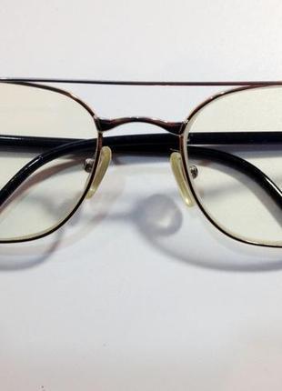 """Компьютерные очки. в красивой  """"позолоченой"""" оправе"""