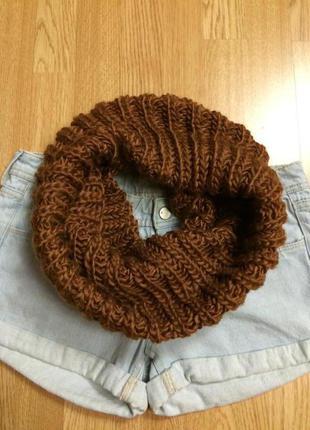 Теплый фирменный шарф-хомут esprit,теплый вязаный шарфик+подарок