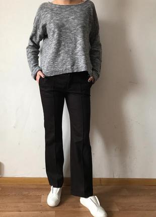 Классические темно коричневые брюки