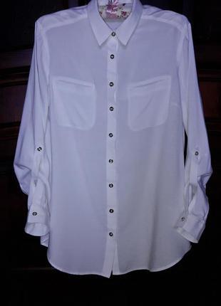 Роскошная белоснежная рубашка. вискоза 100%