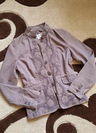 Пиджак жакет с вышивкой з вышивкой