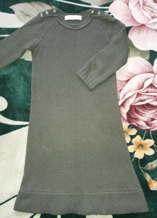 Платье миди zara knit. платье миди