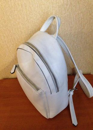 Женский рюкзак, маленький рюкзачок, портфель, белый