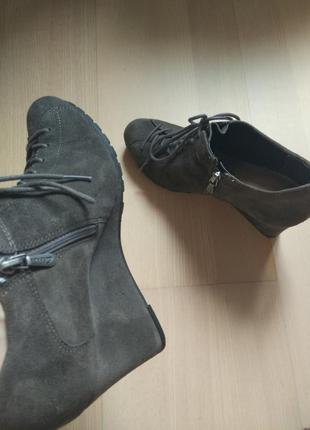 Зручні,м'які черевики замш