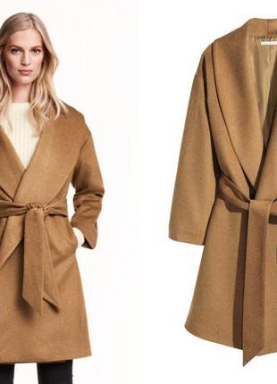 Крутейшее шерстяное пальто h&m conscious