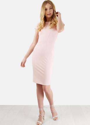 Платье нюдовое/ нарядное/ элегантное/бледно-розовое/ m/l