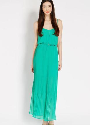 Зеленое макси длинное платье сарафан oasis