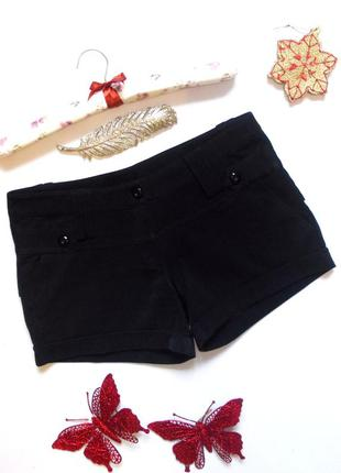 Черные короткие шорты теплые утепленные