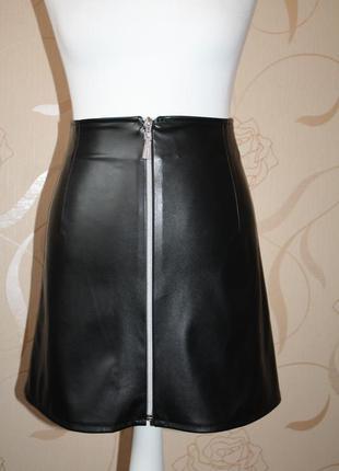 Тренд сезона юбка из эко-кожи.