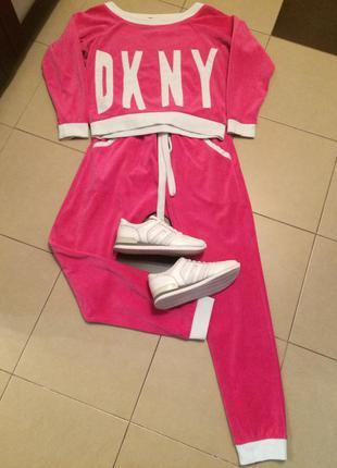 Супермодный прогулочный спортивный костюм dkny