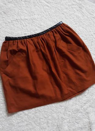 Topshop юбка с кожзам поясом