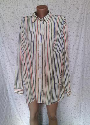 Стильная блуза в полоску р ххл3