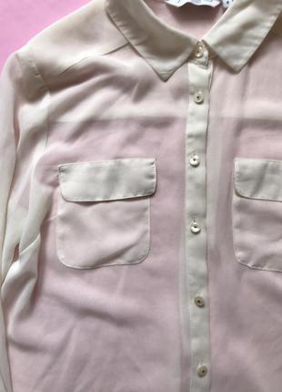Шифоновая блуза рубашка просвечивается