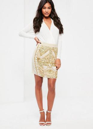 Шикарная вышитпя бисером юбка