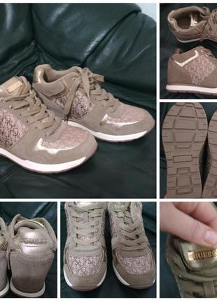 Фирменные, кожаные кроссовки - сникерсы, оригинал!!!