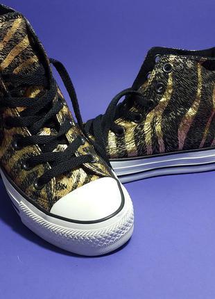 Converse chuck taylor all star оригинал черные с золотым высокие кеды хайтопы бренд из сша