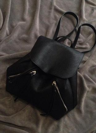 Кожаный рюкзак stradivarius