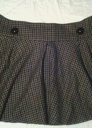 Теплая расклешеная короткая  юбка клеш topshop