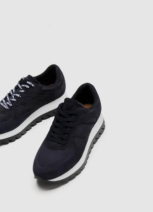 Модные уличные кроссовки zara 2018 2 вида шнурков