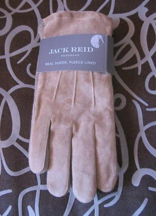 Фирменные кожаные перчатки jack reid  размер  m
