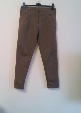 Штани коричневого кольору zara