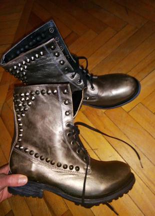 Новые крутые ботинки натуральная кожа 39р. ash mexican boots