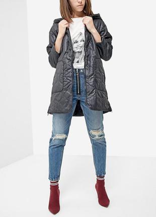 Базовое стёганное пальто stradivarius  2018